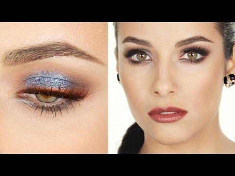 Trucco Argento-Blu e labbra MARSALA | MrDanielMakeup - YouTube
