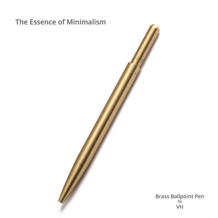 Pure brass ball point pen.