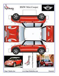 BMW Mini Cooper like a PAPER Doll !  :)