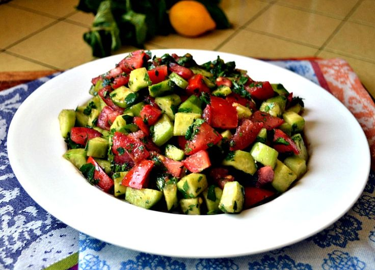 Israeli chopped salad by The Little Ferraro Kitchen
