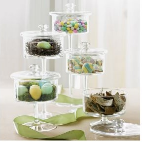 Pedestal candy jars from Chefs