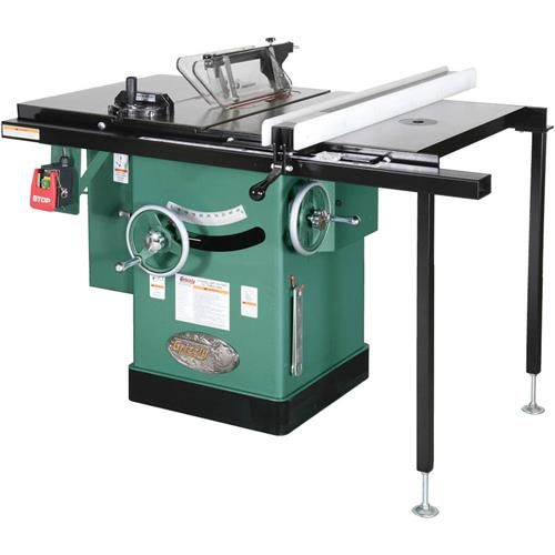 "Grizzly G1023RLWX - 10"" 5 HP 240V Cabinet Left-Tilting Table Saw"