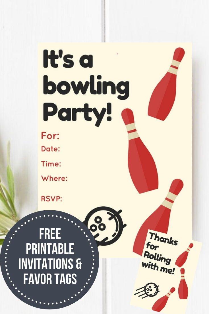Bowling Birthday Party Free Printable Free Printables