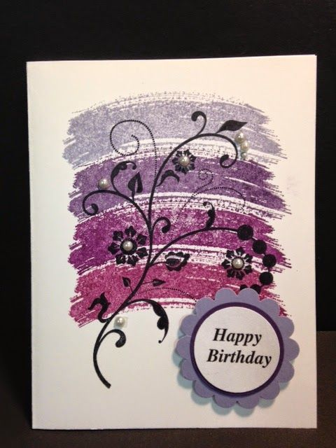 Flowering Flourishes, Ombre Technique, Birthday Card, Stampin' Up! Rubber Stamping, Handmade Cards, Stamping Techniques