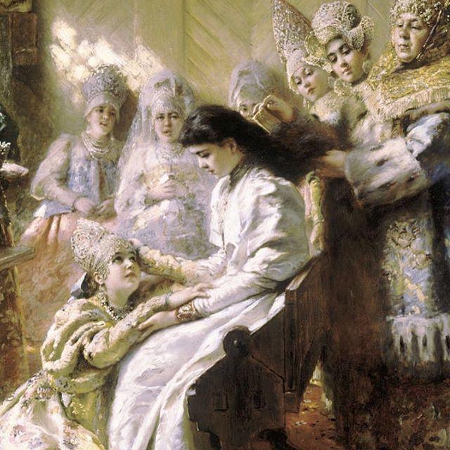 The Russian Bride's Attire - Konstantin Makovsky