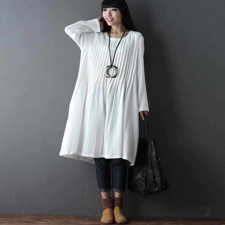 Best 25  Plain white dress ideas on Pinterest   V neck dress ...