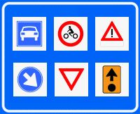 verkeersborden in de goede categorie met betekenis