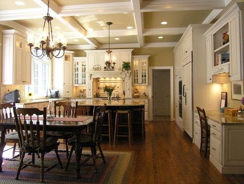 amp island also love ceiling decor cameo kitchens traditional kitchens
