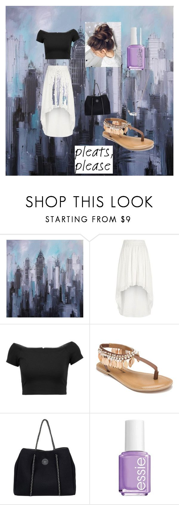 """Untitled #16"" by katlynmac ❤ liked on Polyvore featuring River Island, Alice + Olivia, Penny Loves Kenny, Roxy, Essie and Kendra Scott"