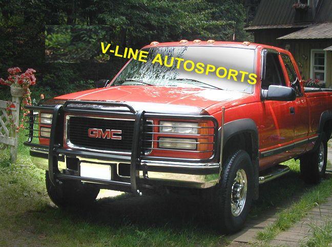 1988 1998 Chevy Gmc Silverado Suburban Tahoe Hpt Black Grill Brush Guard 793002660340 Ebay