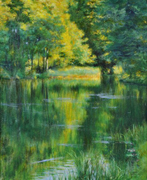 Jezioro w parku - Władysław Podkowiński