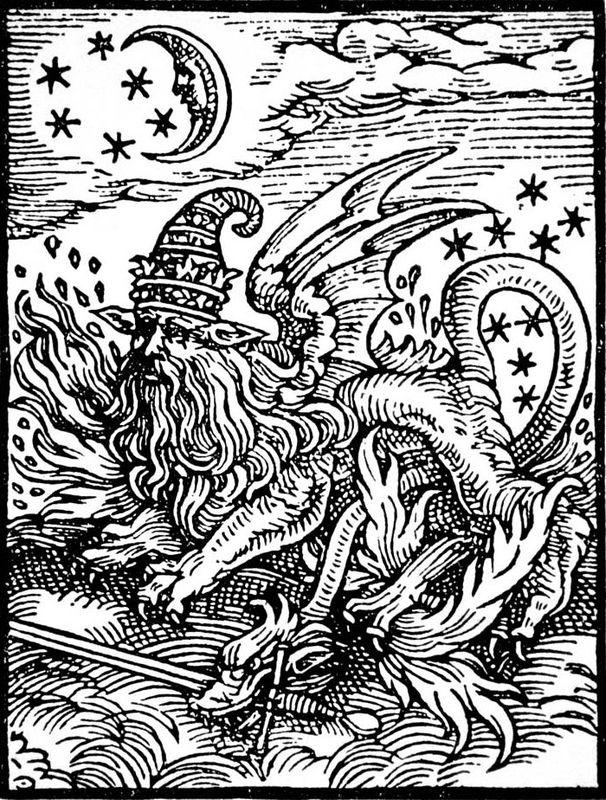 La conjuration des quatre. Oraisons des Sylphes, des Gnomes, des Ondins et des Salamandres... zimzimcarillon.canalblog.com   Gravure d'une Salamandre selon Paracelse