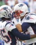 Patriots Bills Football - Brandon Lloyd & Tom Brady