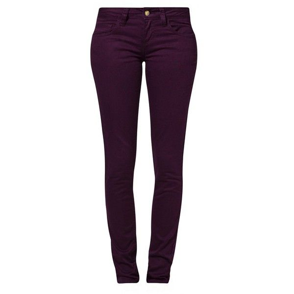 Monkee Genes ORGANIC SUPA SKINNY SATEEN Trousers (340 BRL) ❤ liked on Polyvore featuring pants, jeans, purple, bottoms, calça, women's trousers, purple pants, purple skinny pants, sateen pants and skinny fit pants