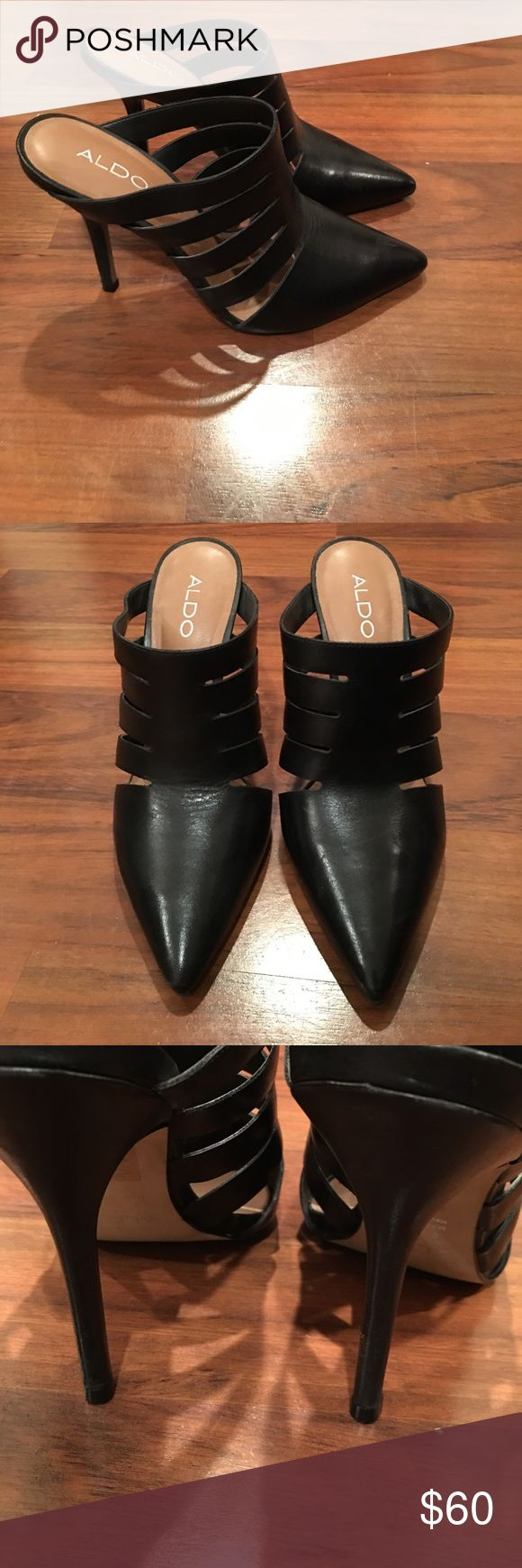 Aldo Heels Mules/ worn twice/ perfect condition Aldo Shoes Mules & Clogs