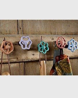 Cutest idea ever!  I love all things rusty and rustic, *and* candy colors, *and* usefulness!
