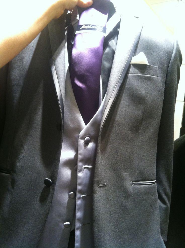 Lavender On Black Tux 95