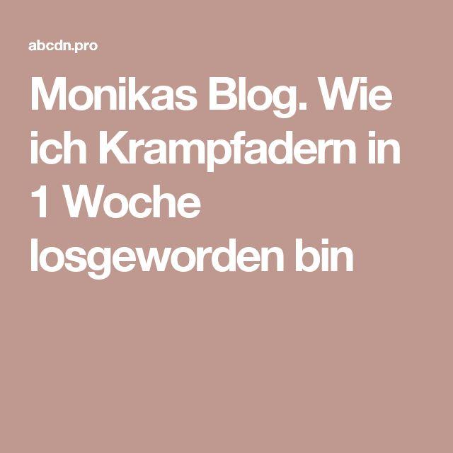 Monikas Blog. Wie ich Krampfadern in 1 Woche losgeworden bin