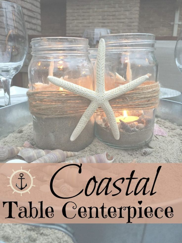 How to make an easy coastal beachy centerpiece for any occasion. I'll show