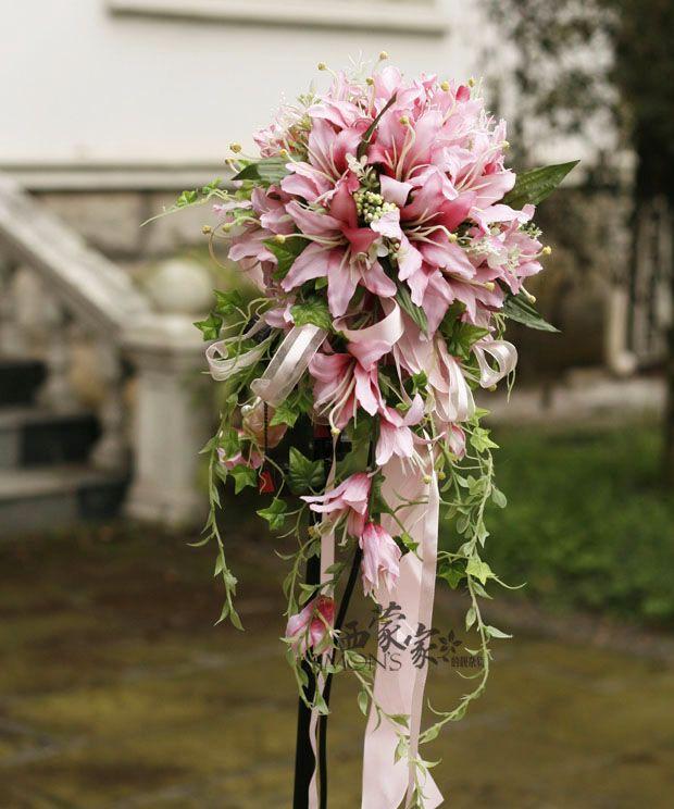 Cascade Bouquet Silk Wedding Flower: 2362 Best Wedding Bouquets