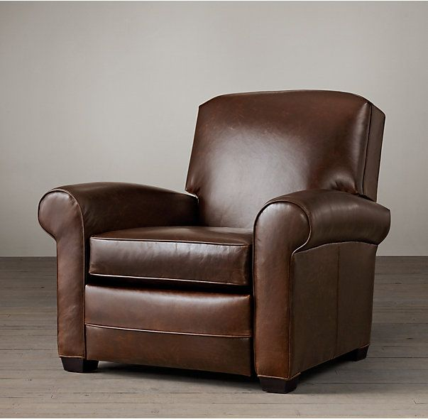 RHu0027s Lowell Leather Club ReclinerOur Deco-inspired chair offers sumptuous comfort in a & 9 best FL recliners images on Pinterest islam-shia.org
