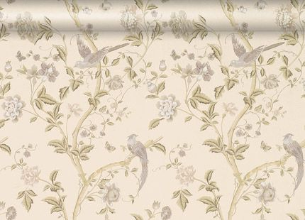 Summer Palace Taupe/Ivory Floral Wallpaper  An elegant archive print depicting beautiful birds and flowers on washable wallpaper, suitable for all interiors including well ventilated kitchens and bathrooms.  £36.00 per Roll