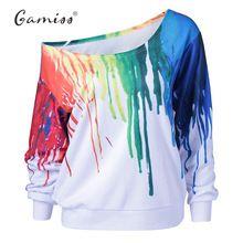 Gamiss punk bluza bluzy z kapturem damskie nowe mody poza bluzy dresowe obraz olejny hip hop 3d print bluzy