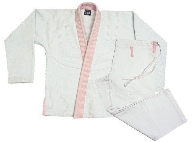 Proma Women's Jui-Jitsu Uniform - White/Pink