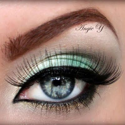 Turquoise & Gold #eyes #makeup