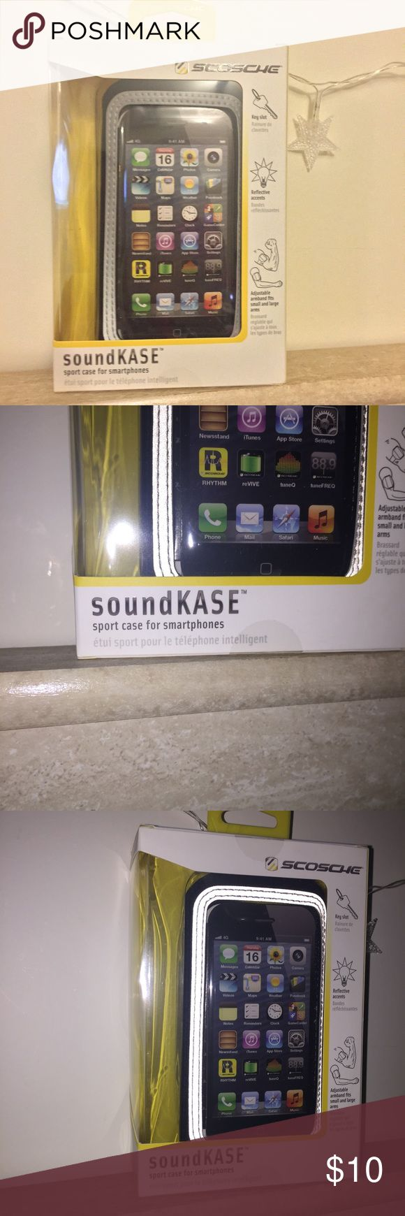 soundKase armband phone case New never used, still in box. Works with iPhone 6. Also has a key slot and adjustable. Accessories Phone Cases