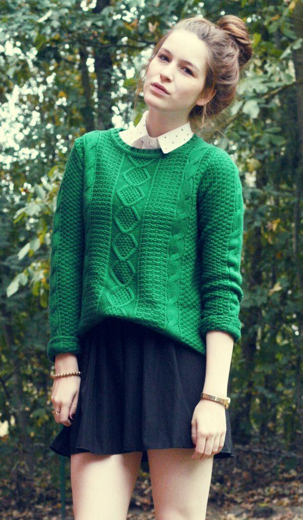 Blouse, jumper, skirt