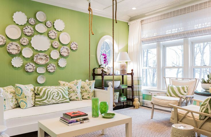 Зеленые обои - фото
