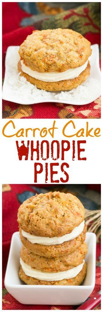 Carrot Cake Whoopie Pies | All the magnificent flavors of carrot cake in these fabulous whoopie pies @lizzydo