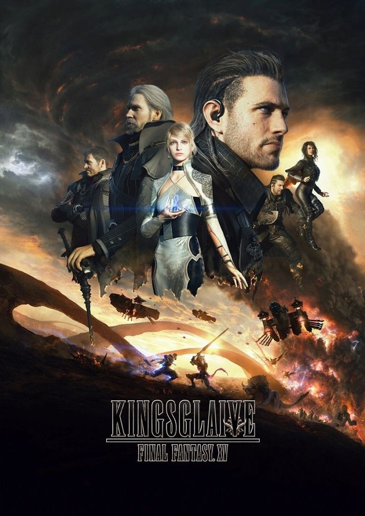 Kingsglaive Final Fantasy XV Movie Poster in High Quality #FFXV