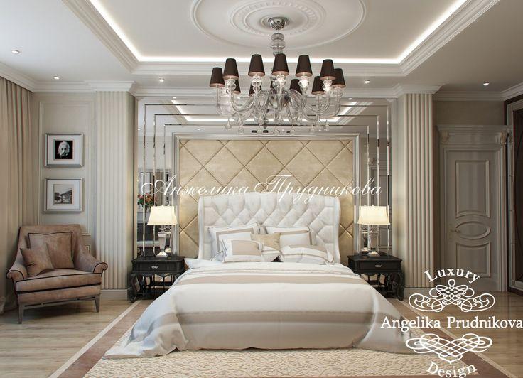 Дизайн интерьера спальни на ул.Чайковского в Классическом стиле. Фото 2016 - Дизайн спальни