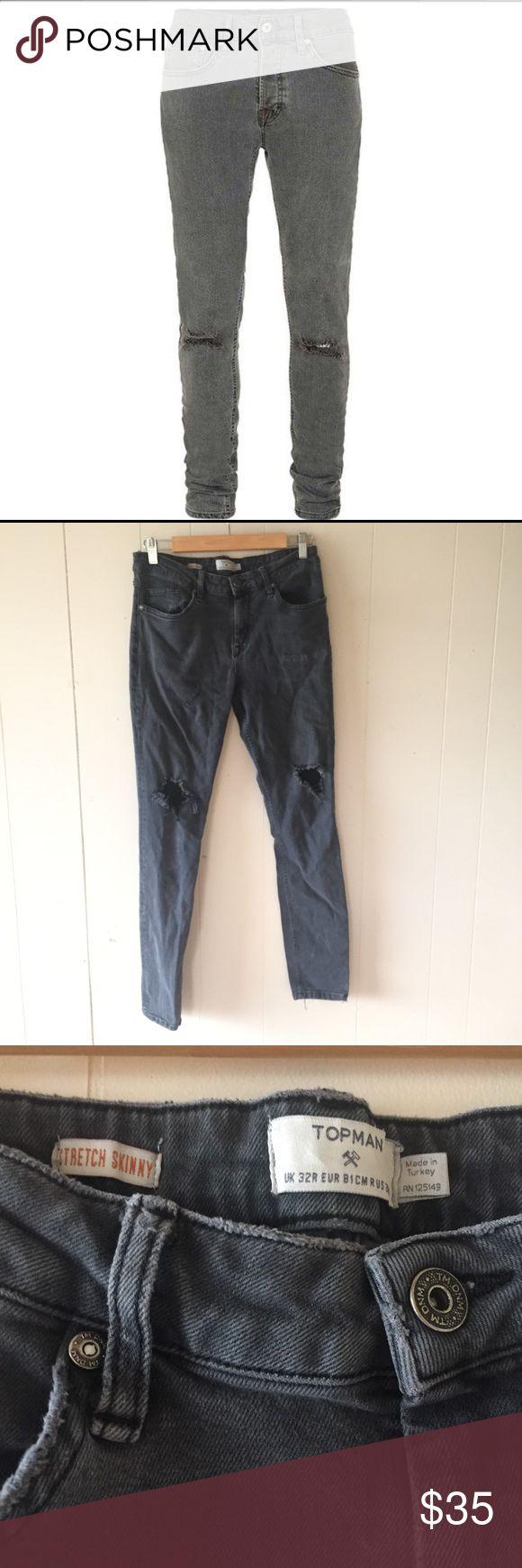 Grey Topman Jeans Men's size 32. Topman Jeans Skinny