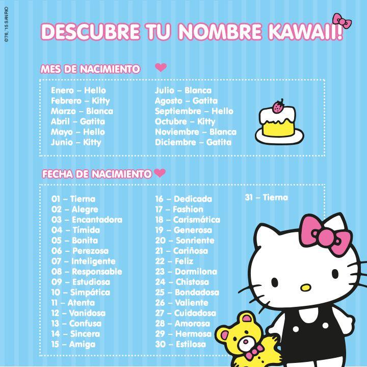 ¡Descubre tu nombre kawaii y escribe aquí en los comentarios! =^.^= #HKyyo #MiNombreKawaii #HelloKItty