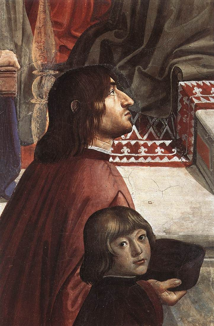 DOMENICO GHIRLANDAIO (1449 - 1494) | Confirmation of the Rule, detail - 1482/85. Fresco | Santa Trinita, Florence.