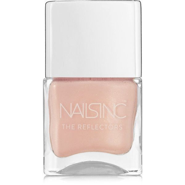 Nails inc The Reflectors Nail Polish - Old Montague Street ($15) ❤ liked on Polyvore featuring beauty products, nail care, nail polish, blush, nails inc nail polish, shiny nail polish and nails inc.
