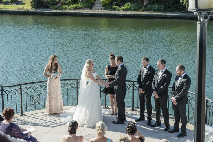 Getting married along the canal is one of many places to tie the knot at Links Hope Island.