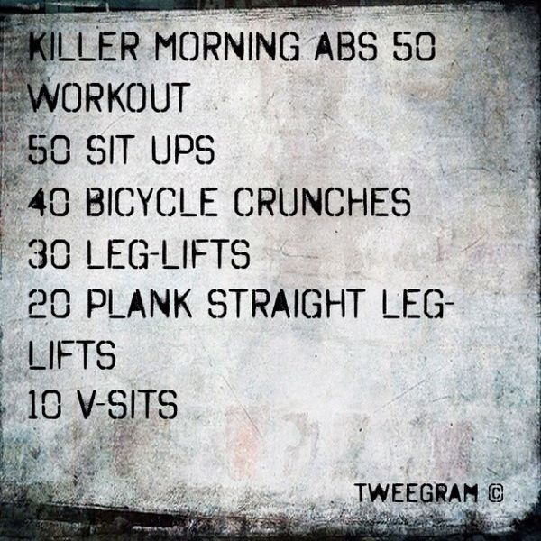 Daily ab workout either before bed or early morning