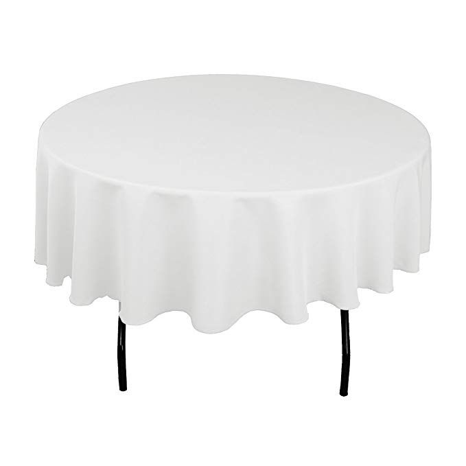 Craft And Party 10 Pcs Round Tablecloth For Home Party Wedding Or Restaurant Use 90 Round White Review White Table Cloth Table Cloth Round Tablecloth