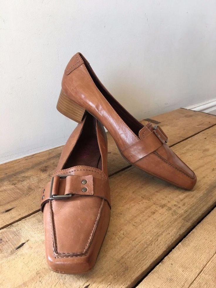 UK SIZE 5 WOMENS JONES BOOTMAKER TAN LEATHER BUCKLE DETAIL SHOES DENHAM  | eBay