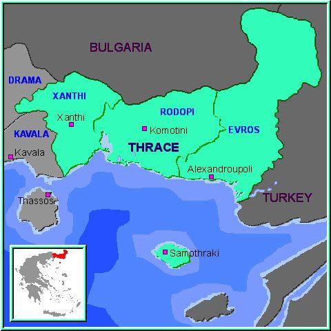 Samothraki island North Aegean Sea Greece Map