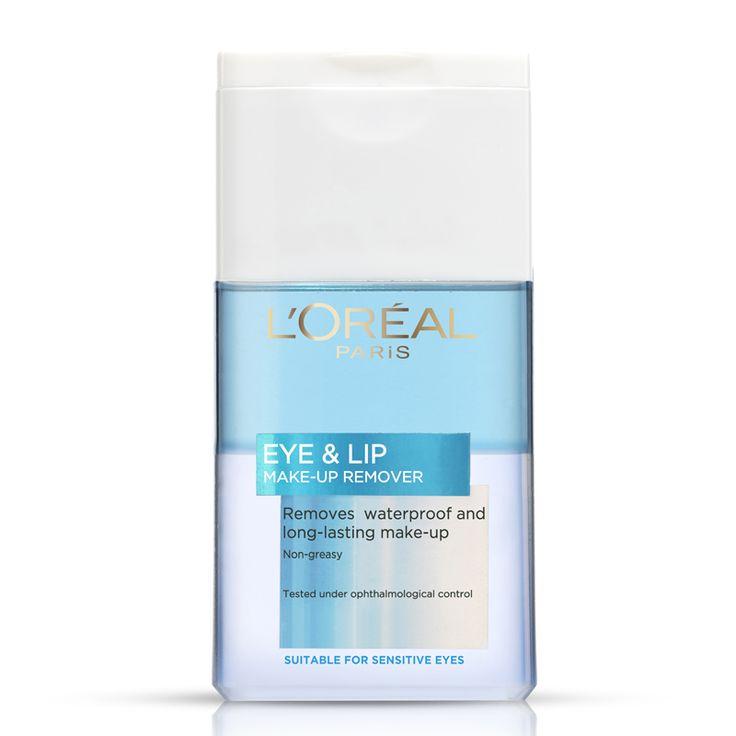 L'Oréal Paris laboratorier har skapat en mild rengöring för ögon och läppar, särskilt anpassad för makeup som är vattenfast eller håller länge. Den är effektiv och skonsam utan att