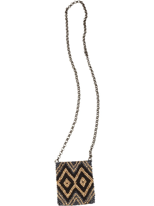 MAISON SCOTCH Beaded Mosaic Necklace