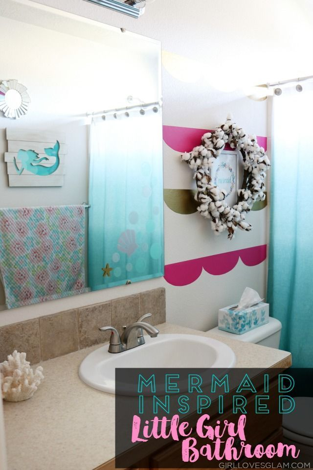 Mermaid Inspired Little Girl Bathroom Girl Bathroom Decor Little Girl Bathrooms Girl Bathrooms