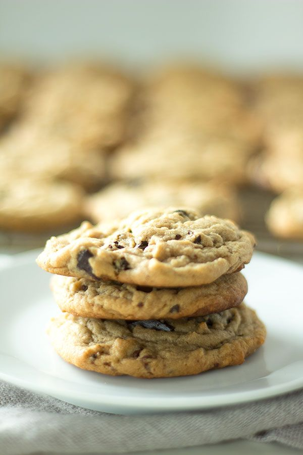Peanut Butter Chocolate Chip Cookies Recipe Cookies Round And