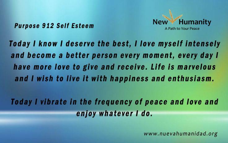Purpose 912 Self Esteem