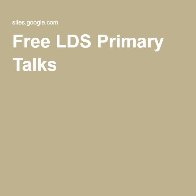Free LDS Primary Talks